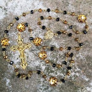 Leopard Print Rosary
